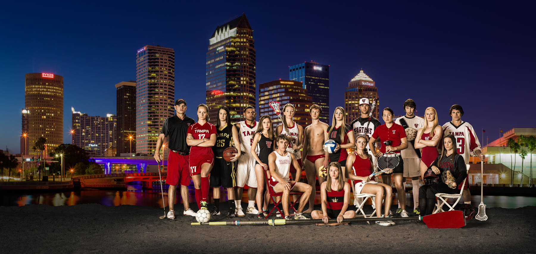 Athletes - Captains of University of Tampa athletic teams